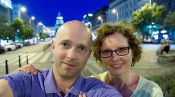 nocne selfie w Pradze
