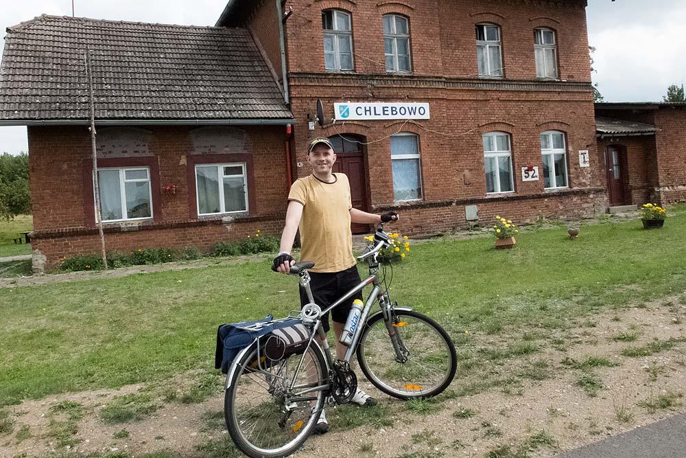na trasie rowerowej Połczyn-Zdrój - Złocieniec