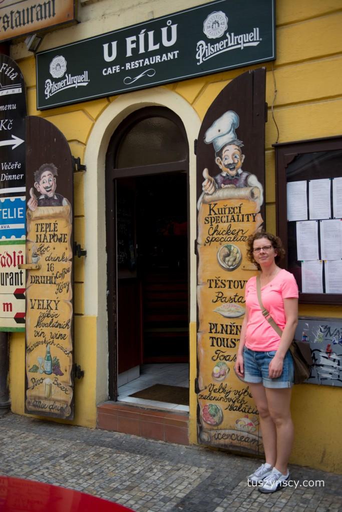 Praga - restauracja Cefe u Filu
