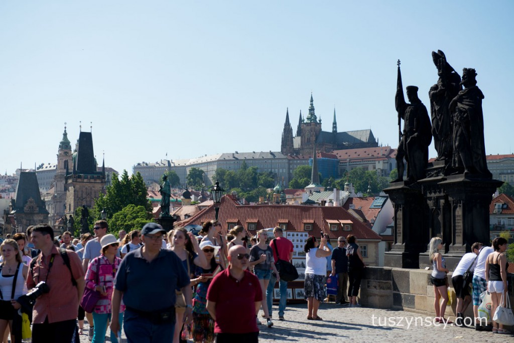 Praga - widok na Hradczany z Mostu Karola
