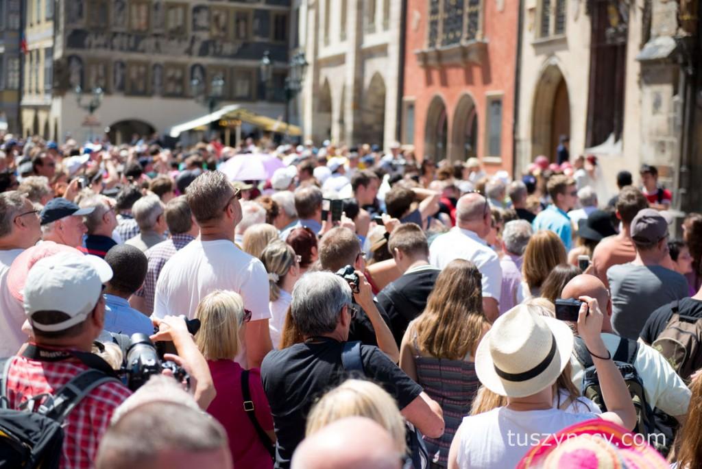 Praga - niektóre miejsca są szczegolnie popularne wśród turystów